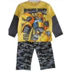 Transformers Little Boys Grey Yellow Printed T-shirt 2 Pc Pants Set 2T-4T