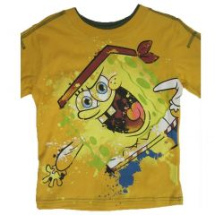 Nickelodeon Little Boys Yellow SpongeBob SquarePants Print T-Shirt 4-7