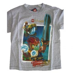 Lego Little Boys Gray Chima Toy Minifigures Printed T-Shirt 4-7
