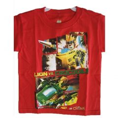 Lego Little Boys Red Chima Toy Minifigures Printed T-Shirt 4-7
