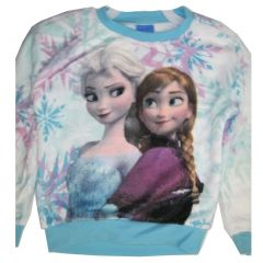Disney Big Girls Sky blue Elsa Anna Frozen Long Sleeve Shirt 7-16