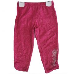 Disney Little Girls Pink Sparkle Hannah Montana Embroidered Capri Pants 4-6X