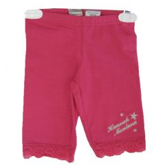 Disney Little Girls Pink Hannah Montana Star Embroidery Lace Capri Pants 4-6X
