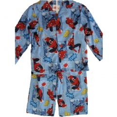 Marvel Little Boys Sky Blue Spiderman prints 2 Pc Pajama Set 2T-4T