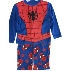 Marvel Spiderman Big Boys Royal Blue Logo Print 2 Pc Pajama Set 8-10