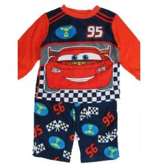 Cars Little Boys Red Lighting McQueen Character Print 2 Pc Pajama Set 2T-4T