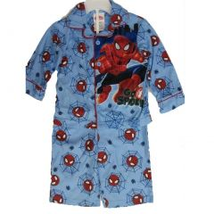 Spiderman Little Boys Sky Blue Go Spidey Cartoon Inspired 2 Pc Pajama Set 2T-4T