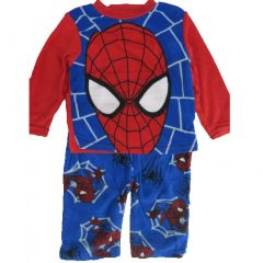 Marvel Big Boys Blue Red Spiderman Logo Print 2 Pc Pajama Set 8-10