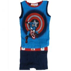 Marvel Big Boys Blue Captain America Tank Top Boxer Briefs 2 Pc Set 8