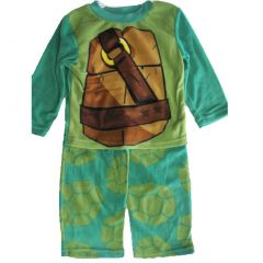 Nickelodeon Big Boys Green Ninja Turtles 2 Pc Pajama Set 8-10