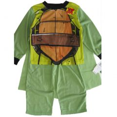 Nickelodeon Big Boys Green Ninja Turtles Cape 2 Pc Pajama Set 8-10