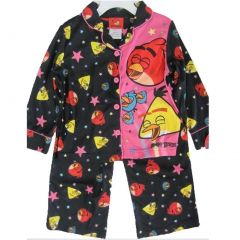 Angry Birds Big Girls Black Pink Character Print 2 Pc Pajama Set 8-10