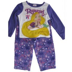 Disney Little Girls Purple Rapunzel Image Print 2 Pc Pajama Set 2T-4T