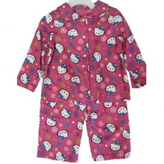 Hello Kitty Little Girls Hot Pink Kitty Floral Print 2 Pc Pajama 2T-4T