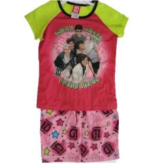 1D Big Girls Pink Green One Direction Band Print 2 Pc Sleep Wear Set 7-16