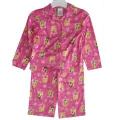 Disney Little Girls Fuchsia Princesses Images All-Over 2 Pc Pajama Set 4-6