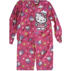 Hello Kitty Big Girls Fuchsia Kitty Image Star Print 2 Pc Pajama Set 8-10