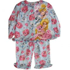 Disney Little Girls Blue Cinderella Aurora Print 2 Pc Pajama Set 2T-4T