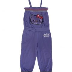 Hello Kitty Little Girls Purple Elasticated Neck Strappy Pants Romper 4-6X