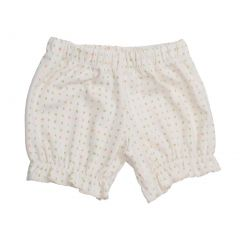Baby Girls White Alphabet Pattern Organic Cotton Bloomers 0-12M