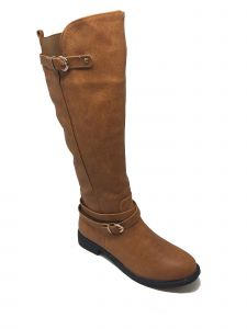 Ameta Women Multi Color Zipper Buckle Knee-High Riding Boots 6-11