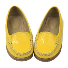 Foxpaws Shoes Girls Yellow Ava Leather Loafers Shoes 11-3 Kids