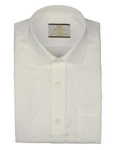 Alfa Perry Little Boys White Solid White Non Iron French Cuff Dress Shirt 2-7