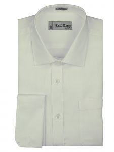 Adam Baker Little Boys White Classic Fit Wrinkle Free Dress Shirt 2-7