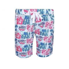 Sun Emporium Baby Boys Red Blue Vintage Surfer Print Board Shorts 6-18M