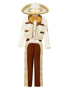 Rain Kids Boys Ivory Gold Horse Embroidery Elegant 6 Pc Charro Suit 12M-8