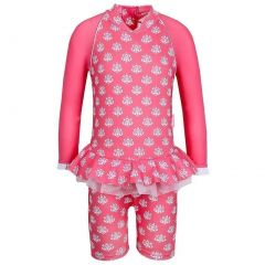 Sun Emporium Baby Girls Coral Indian Damask Long Sleeved Sun Suit 12M