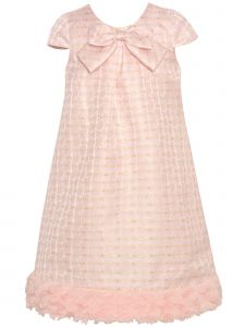 Bonnie Jean Baby Girls Light Pink Gold  Flower Bow Sleeveless Dress 12M-24M