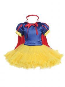 Bijan Kids Girls Blue Yellow Princess Style Halloween Tutu Dress 4-8
