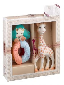 Sophie La Girafe Baby Multi Color Classical Creation Birth Toy Set No 2
