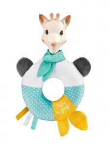 Sophie La Girafe Baby Multi Color Shake And Chew Rattle Toy