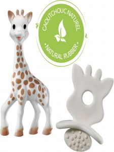 Sophie La Girafe Baby White Brown So Pure Chewing Rubber Toy Set