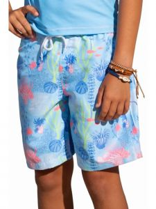 Sun Emporium Big Boys Coral Cove Print Board Shorts 8-12