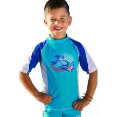 Sun Emporium Baby Boys Blue Multi Panel Woodblock Surf Rash Shirt 6-18M