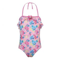 Sun Emporium Baby Girls Pink Blue Blossom Vintage Cut Out Swimsuit 6-18M