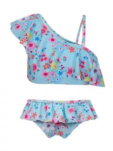Sun Emporium Little Girls Vintage Meadow Print Frills Bikini Set 12