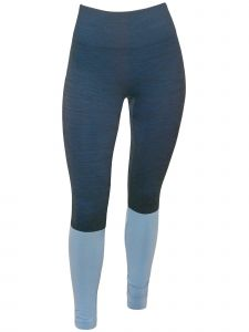 Climawear Womens Blue Black Seamless Full Length Athleisure Yoga Leggings S-L