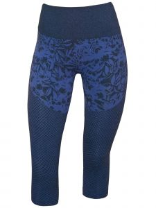 Climawear Womens Blue Pathway Athleisure Capri Length Yoga Leggings S-L