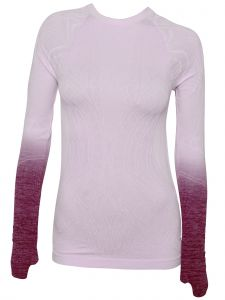 Climawear Womens Multi-Color Dip-Dye Long Sleeve Athleisure Yoga Top S-L