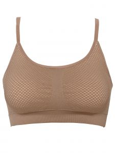 Climawear Womens Brown Athleisure V-Back Strap Sports Bra S-L