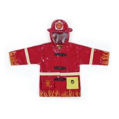 Kidorable Baby Boys Red Fireman Pockets Helmet Hooded Rain Coat 12-18M