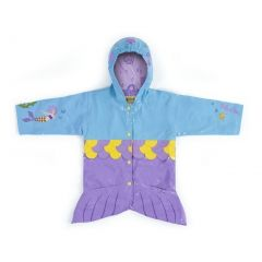 Kidorable Little Girls Aqua Mermaid Pockets Scales Hooded Rain Coat 2T-6X