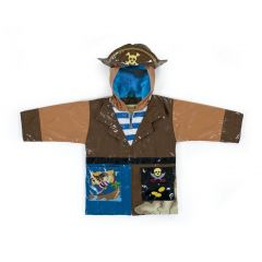 Kidorable Baby Boys Brown Pirate Eye Patch Hat Hooded Rain Coat 12-18M