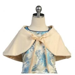 Angels Garment Toddler Baby Girls Ivory Faux Wrap Bow Collar Cape 4T