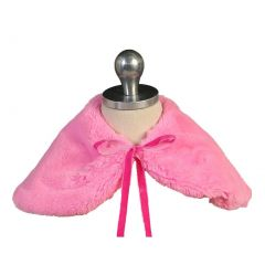 Angels Garment Big Girls Hot Pink Short Faux Shoulder Collar Cape 7-10