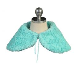 Angels Garment Big Girls Mint Blue Short Faux Shoulder Collar Cape 7-10